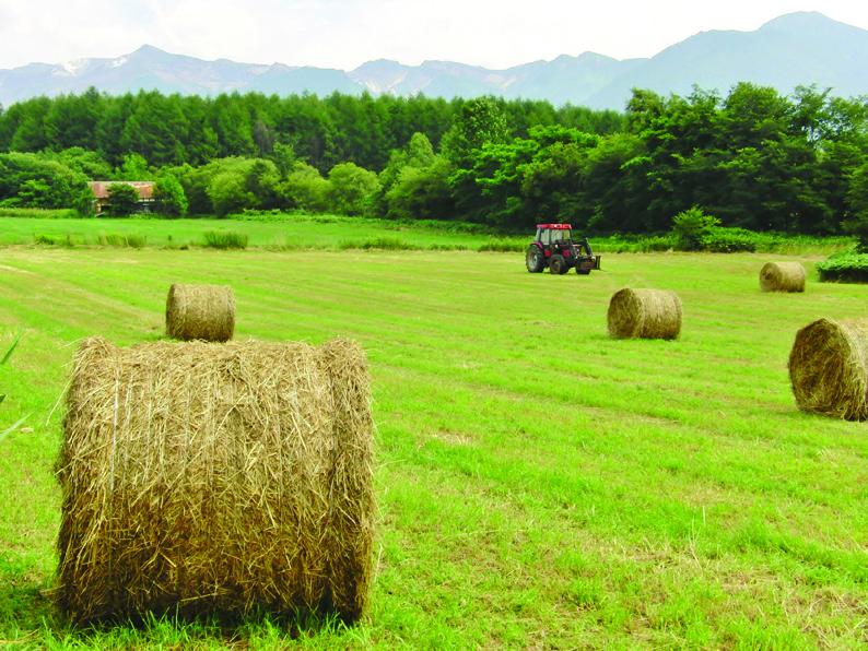 季節のカレンダー  - 北海道十勝の牧草ロール -
