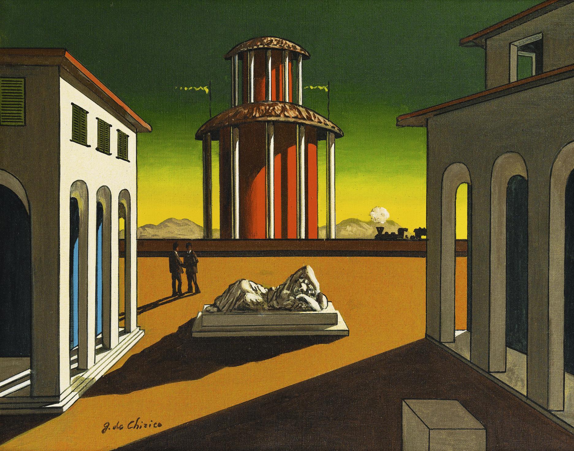 キリコ「イタリア広場」