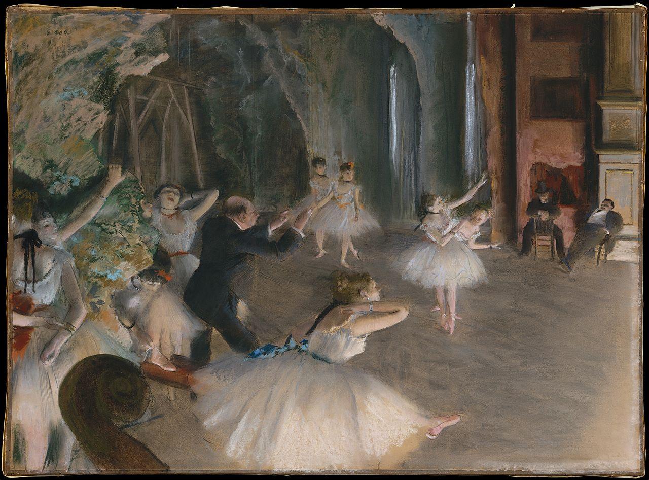 ドガ「舞台のバレエ稽古」