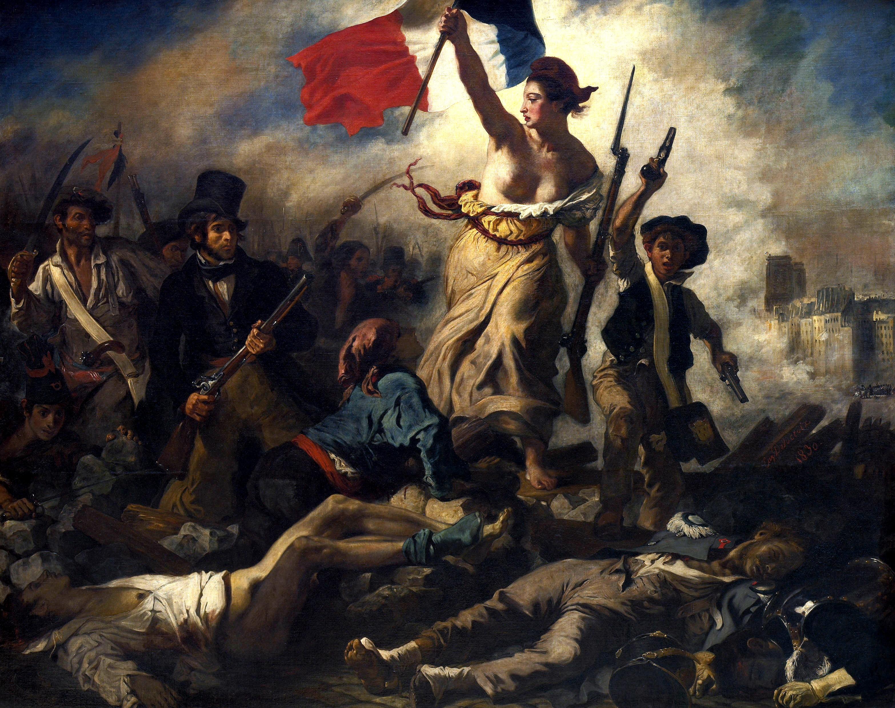 ドラクロワ「民衆を導く自由の女神」