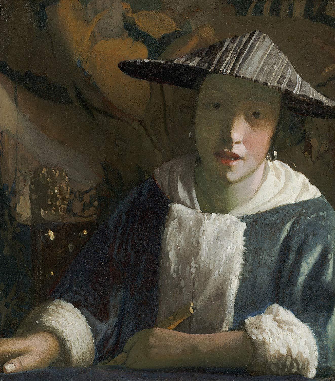 フェルメール「フルートを持つ女」