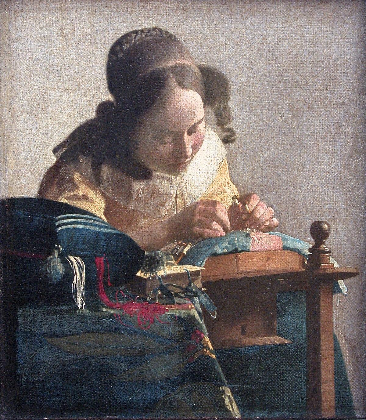 フェルメール「レースを編む女」