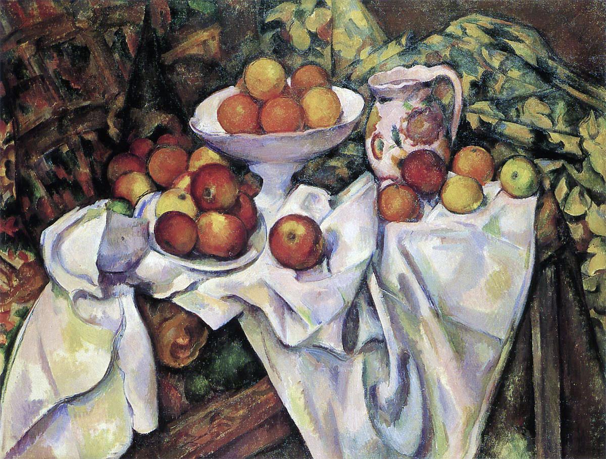 セザンヌ「林檎とオレンジ」