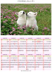 子犬の仲良しカレンダー