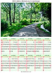 野草と樹木の散歩道カレンダー